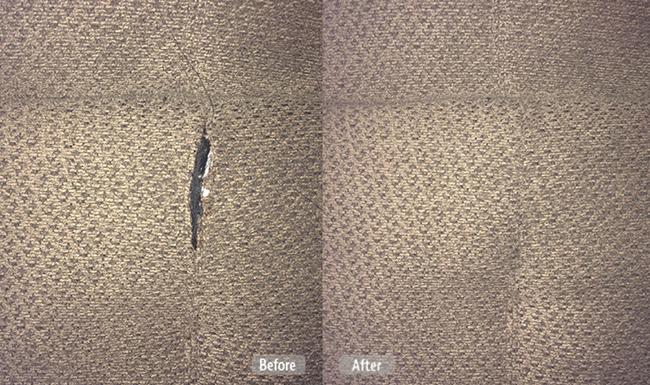 Ripped fabric furniture repair