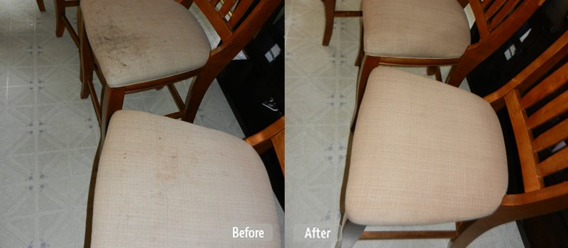 Clean fabric chairs