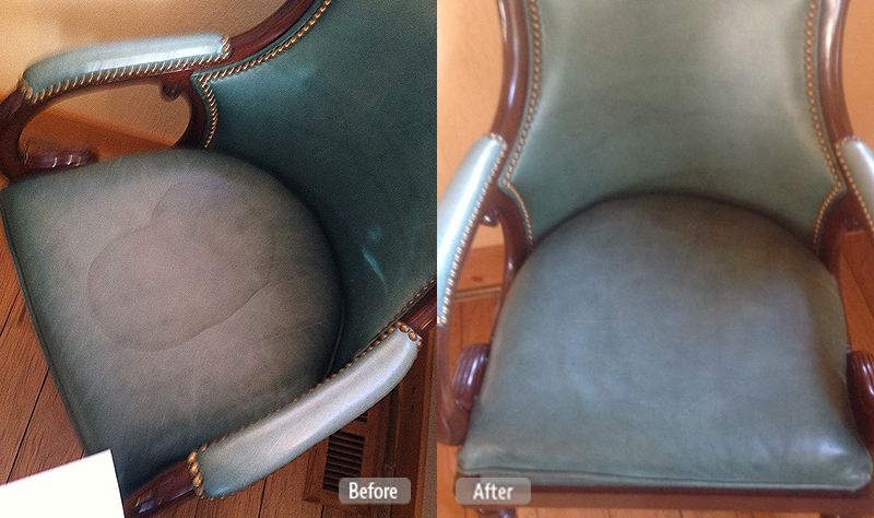 Stain on chair cleaning