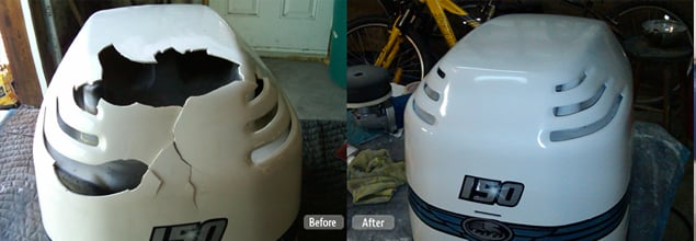 Outboard Motor Cover Restoration