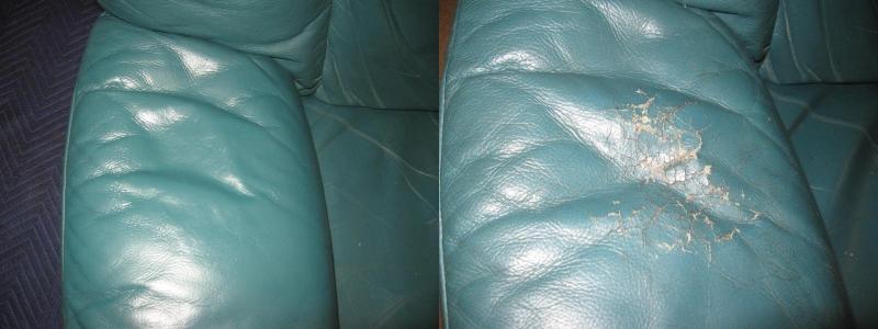 Leather chair armrest
