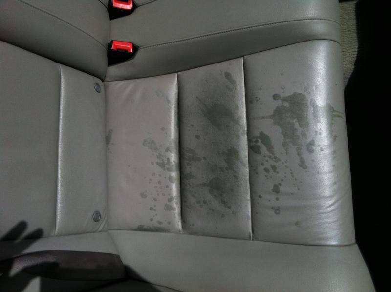 Restoration On Infiniti G37 Leather Seats Stained Infiniti