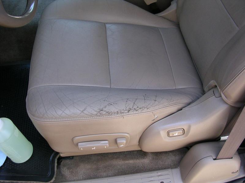 cuts in leather auto seats hayward ca fibrenew bay area. Black Bedroom Furniture Sets. Home Design Ideas
