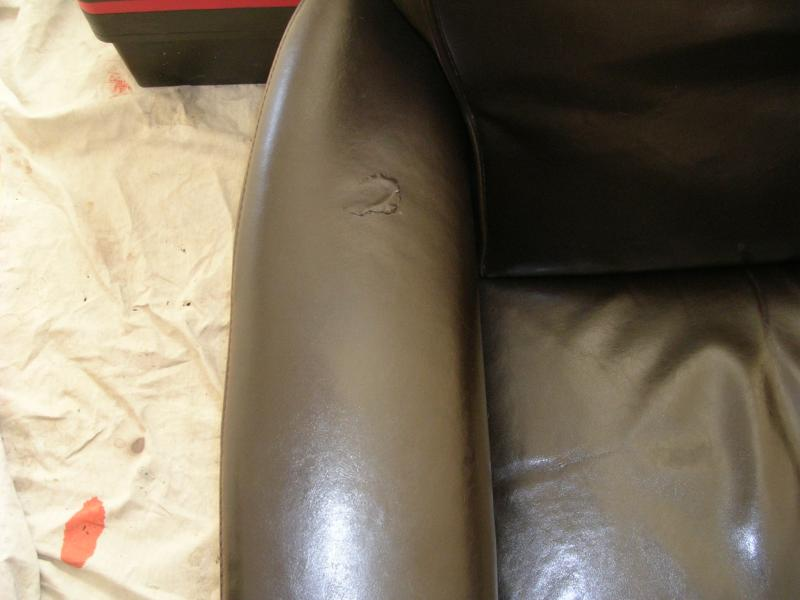 Peeling Of A Leather Chair San Francisco Ca Fibrenew