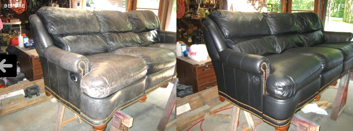 leather repair worn out and faded leather like new again. Black Bedroom Furniture Sets. Home Design Ideas