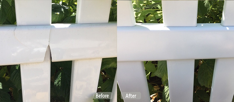 Vinyl fence cracked repair