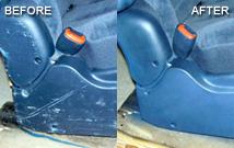 car seat and dash repair