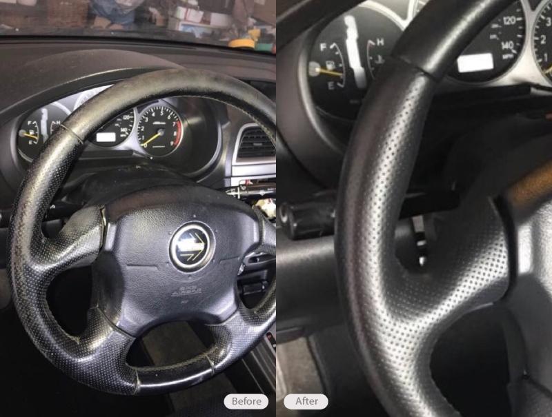 Photo Leather Steering Wheel Repair Fibrenew East