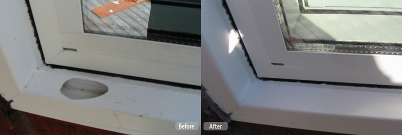 Vinyl Window Casing Repair