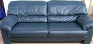 Fully-Finished Leather Couch