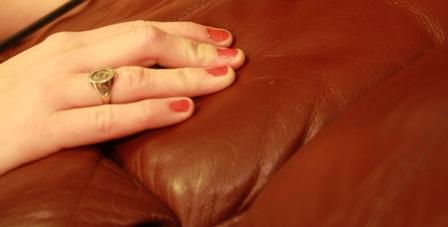 Massaging leather