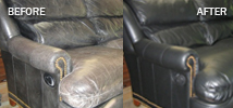worn leather repairs