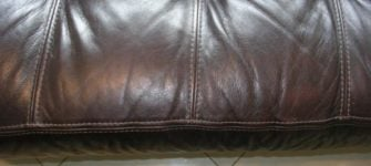 Do not use window cleaner on leather upholstery