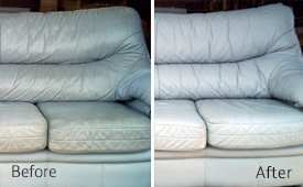 leather furniture cleaning and protecting service