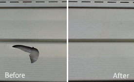 vinyl siding and pvc window frame repair service