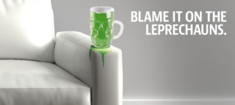 Blame the Leprechauns. Expert Leather Stain Removal
