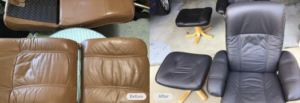 leather seat re-dyed