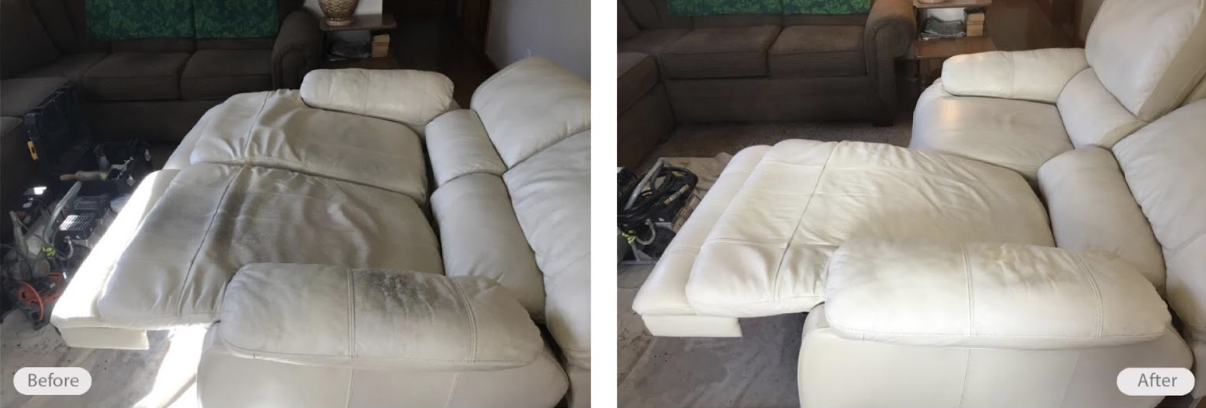 leather couch cleaned and protected