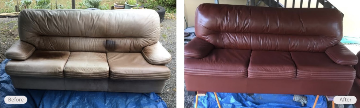 leather couch restored