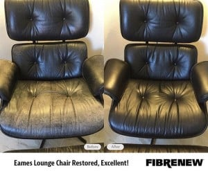 Leather Chair Restored to Look Great