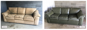 Leather Couch Redye & Restoration by Fibrenew Asheville