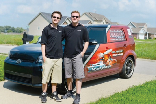 Fibrenew franchisees with vehicle