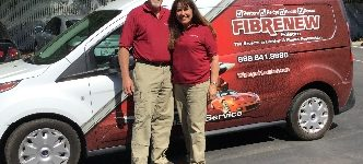 Husband and Wife Franchise Owners with Fibrenew