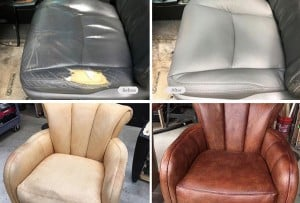 leather seats restored
