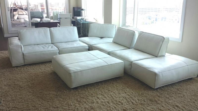 Photo: Leather Sectional Sofa Redye to Full Finish ...
