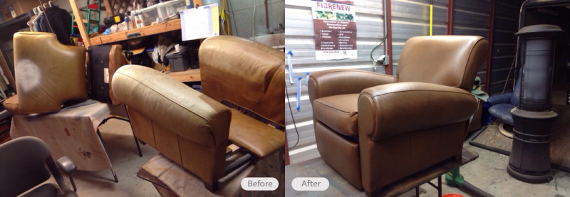 Henredon Leather Chair Restoration