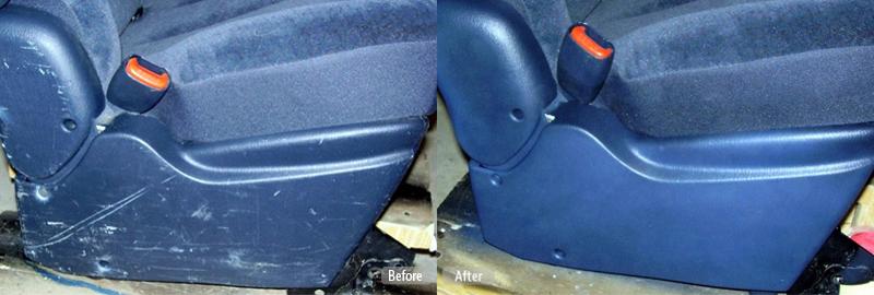 Blue Car Seat Base Repair