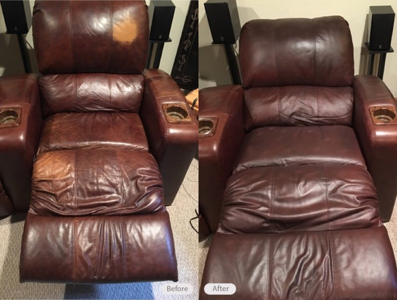 Leather Recliner Re Dye
