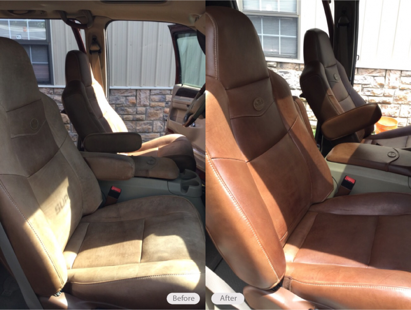 King Ranch Ford >> Photo: King Ranch Aniline Leather Seats - Fibrenew ...