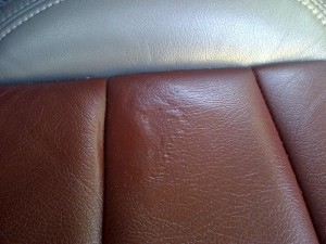 how to fix a tear in leather car seat