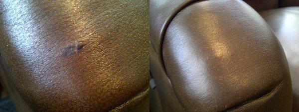 Leather Chair Arm Tear Repair