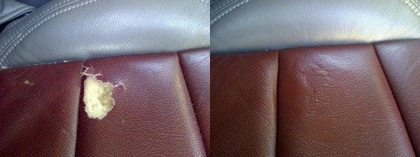 Leather Car Seat Tear Repair