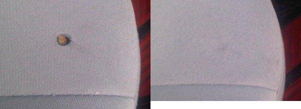 Cloth Car Seat Cigarette Burn Hole Repair