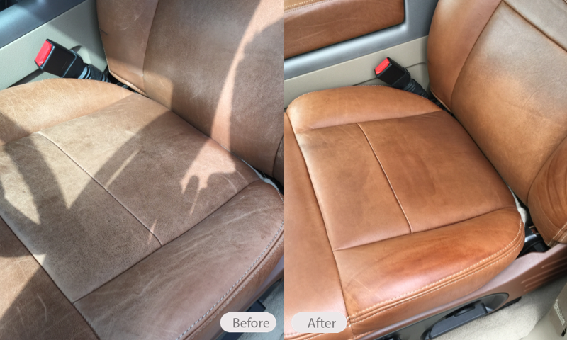 King Ranch Ford >> Photo: Before & After photo of King Ranch Seats - Fibrenew Portland