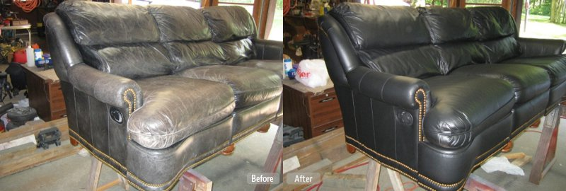 Leather repair vinyl plastic restoration fibrenew for Furniture quad cities