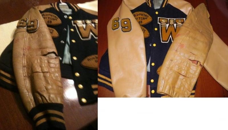 Photo High School Leather Jacket Fibrenew Sunflower