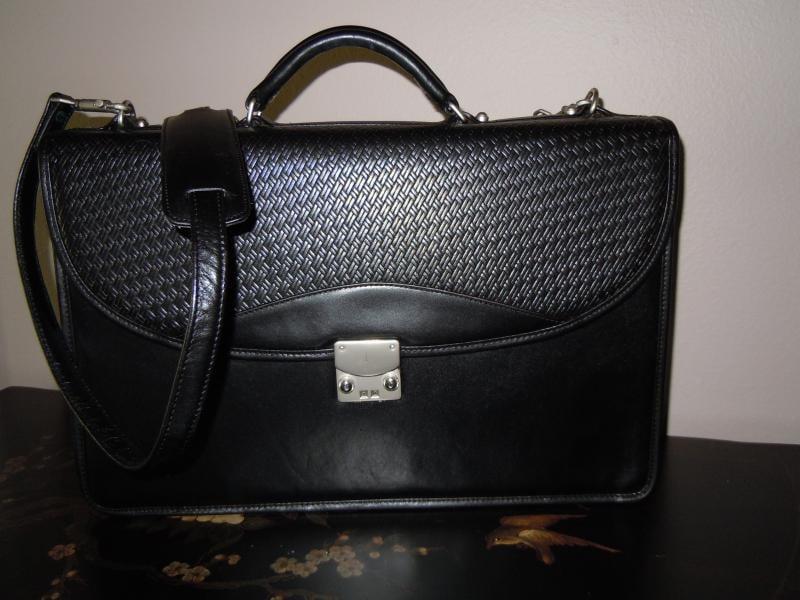 Leather Black Debon Briefcase Color Restoration