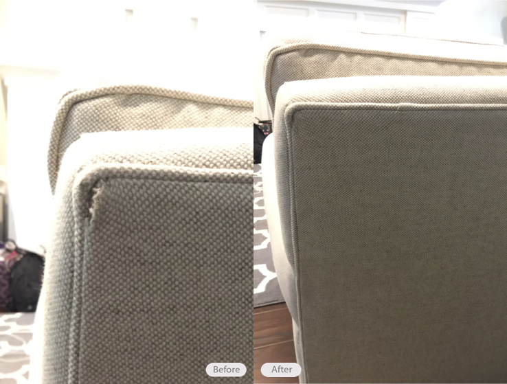 Fabric Upholstered Sofa Repair In Tampa Florida 33611