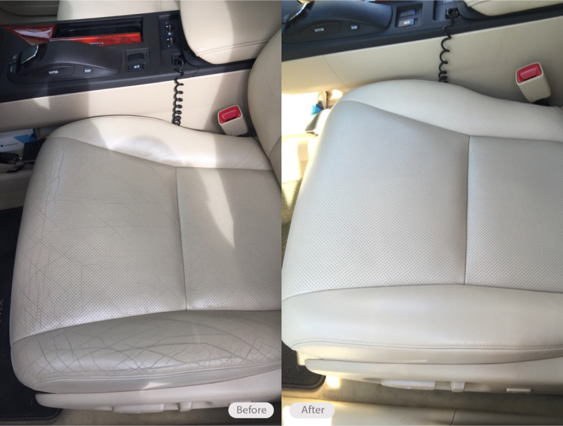 Photo Leather Drivers Seat Cracking And Discoloration