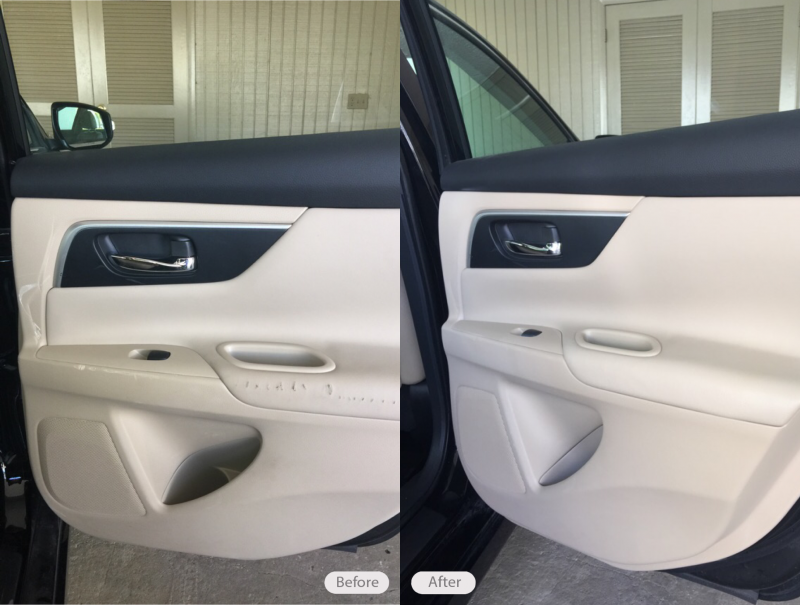 Photo Nissan Altima Vinyl And Plastic Repair On Door