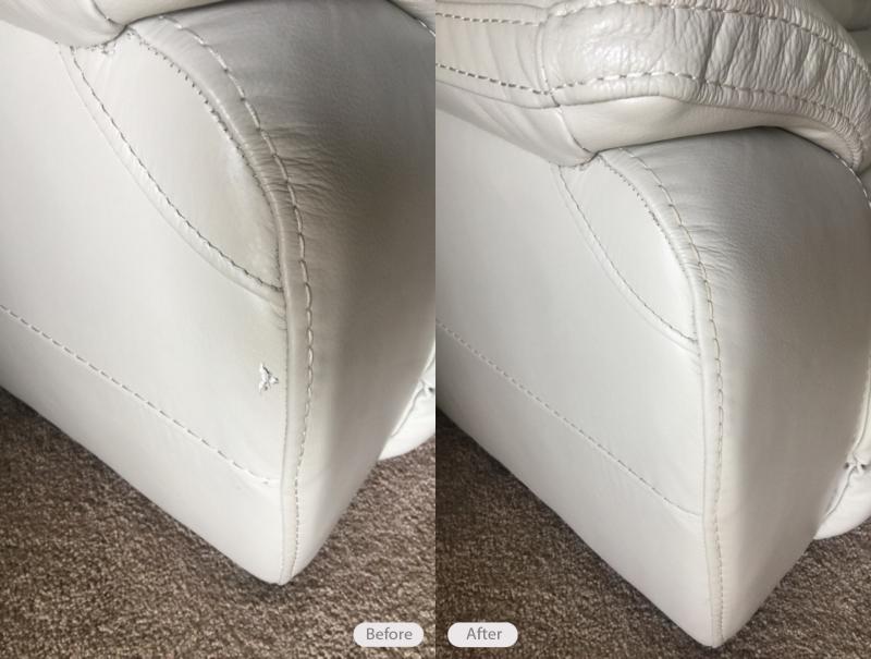 Leather Sofa Tear Repair And Re Dye In Brandon Florida