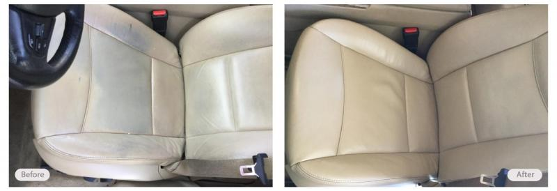 Vehicle driver's seat clean, repair and redye