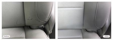 Car seat pen markings removal