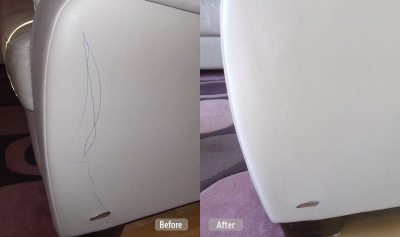 How To Remove Pen Stain From White Leather Sofa