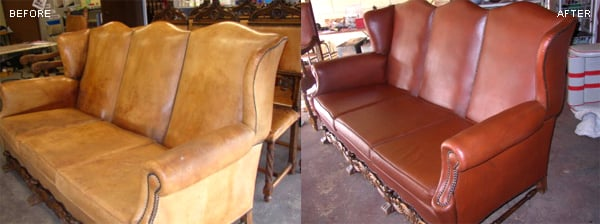 Photo Leather Redyeing Repair Fibrenew Chicago SW Naperville