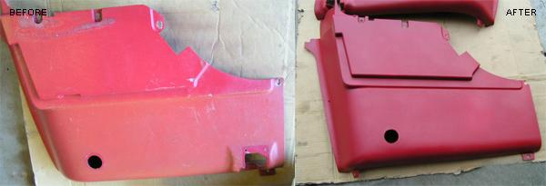 Cracked door panel repair